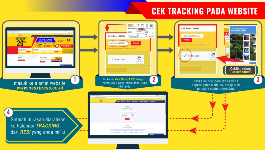 Cek Tracking di Website NSS Express